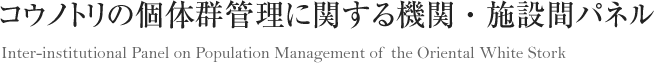 コウノトリの個体群管理に関する機関・施設間パネル Inter-institutional Panel on Population Management of the Oriental White Stork